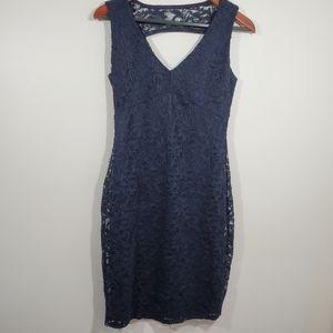 Marina navy blue lace dress